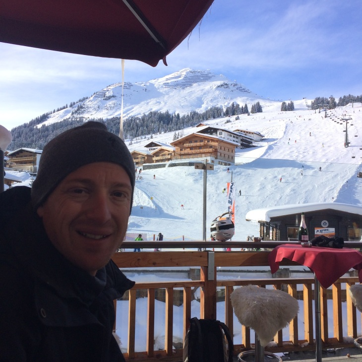 Apres Ski in Lech - not nearly as exciting as St Anton, but quite a nice view