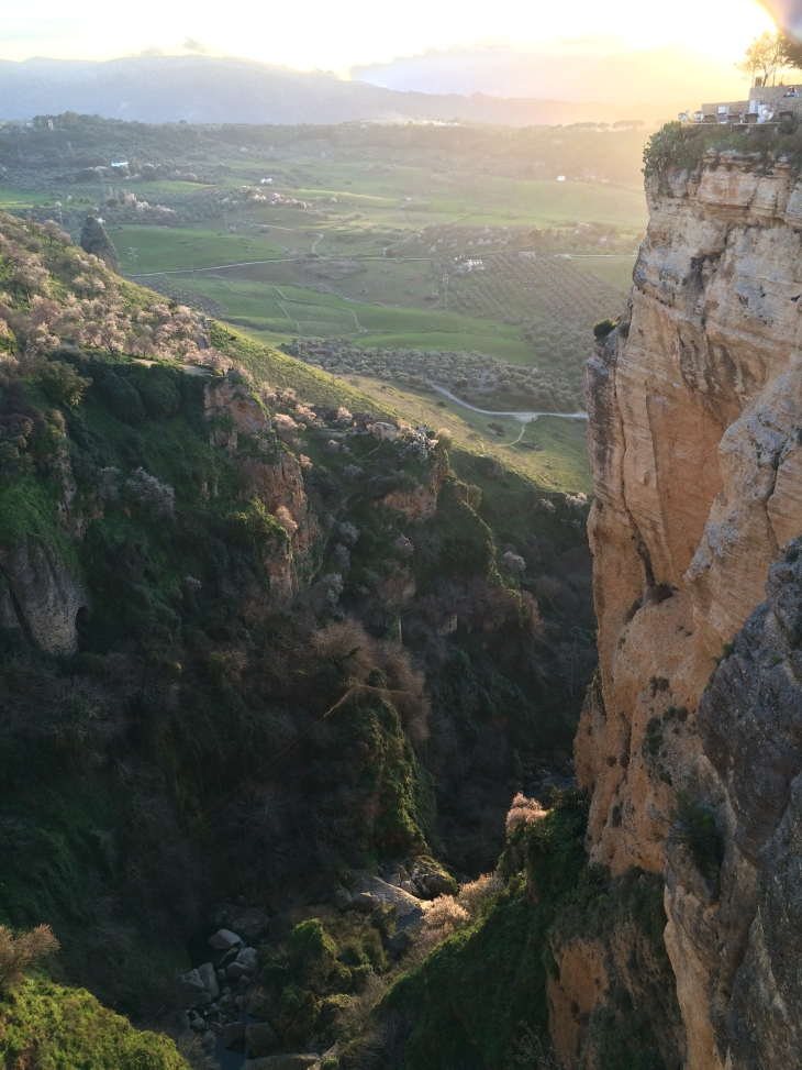 The amazing cliffs at Ronda