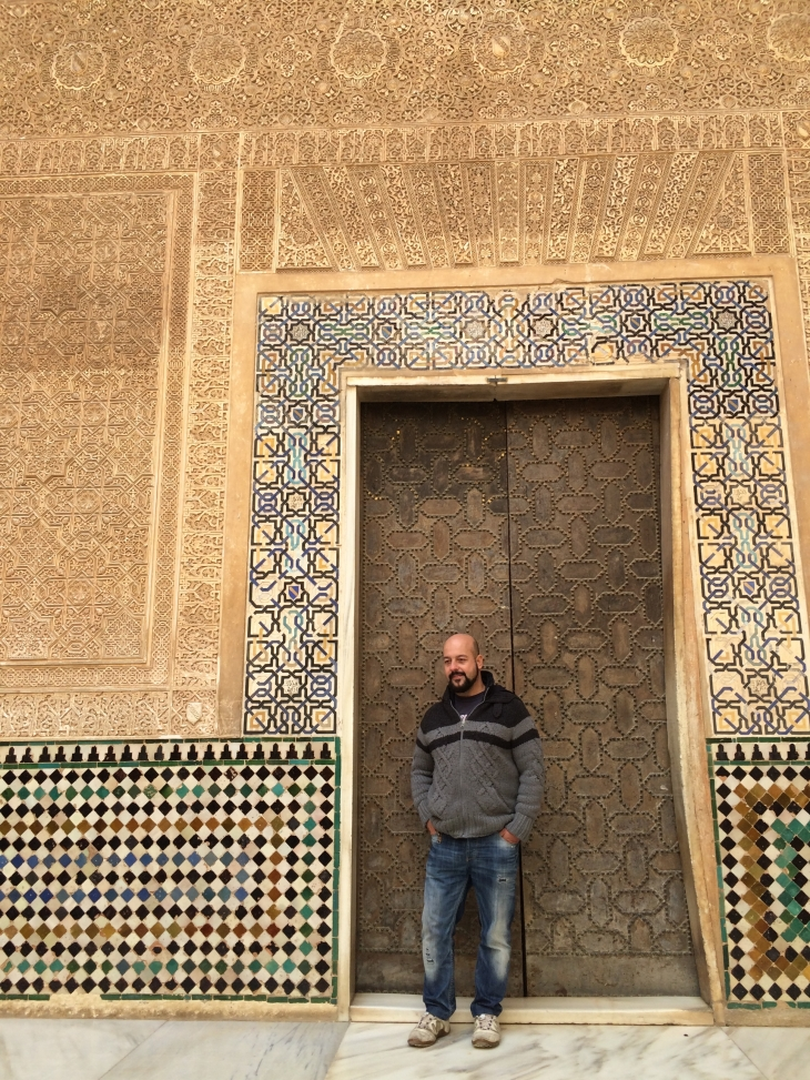 Warren looking cool in front of the door to one of the palace rooms