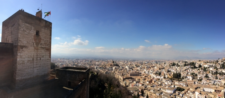 View over Granada from the fort