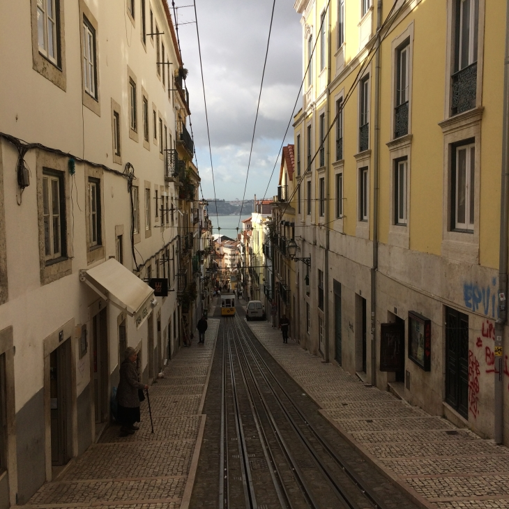 One of the famous funiculars in Lisbon (I'm told every tourist takes this photo so didn't want to be left out)