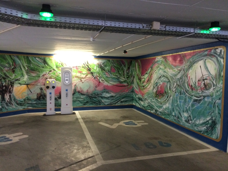 On our walking tour we visited a parking garage which had given each floor to a different street artist to decorate - really cool