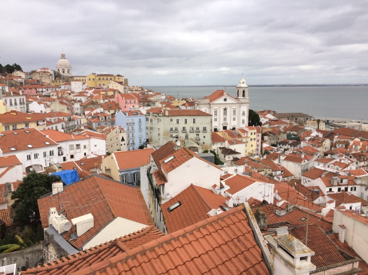 Looking out over Lisbon's old Muslim quarter - the only part to survive the 1755 earthquake and tsunami