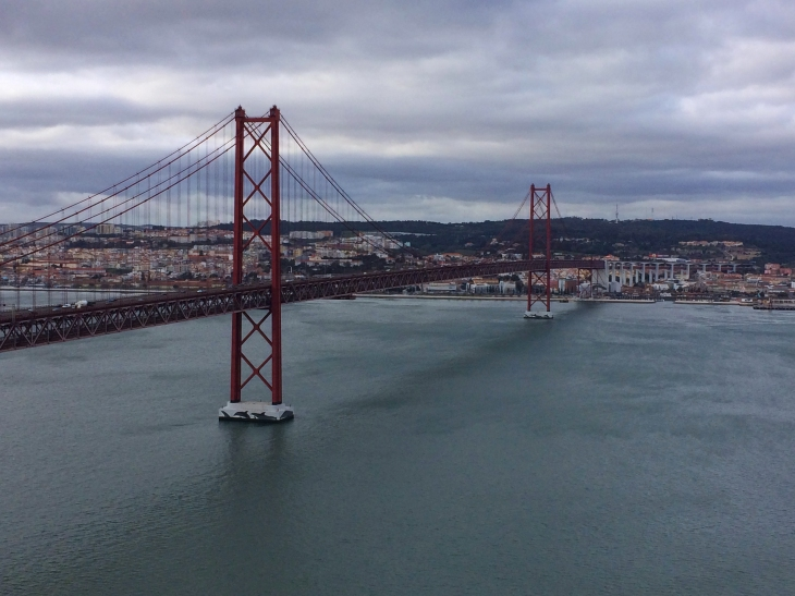 The bridge across the river in Lisbon - pretty much an exact copy of the Golden Gate bridge.
